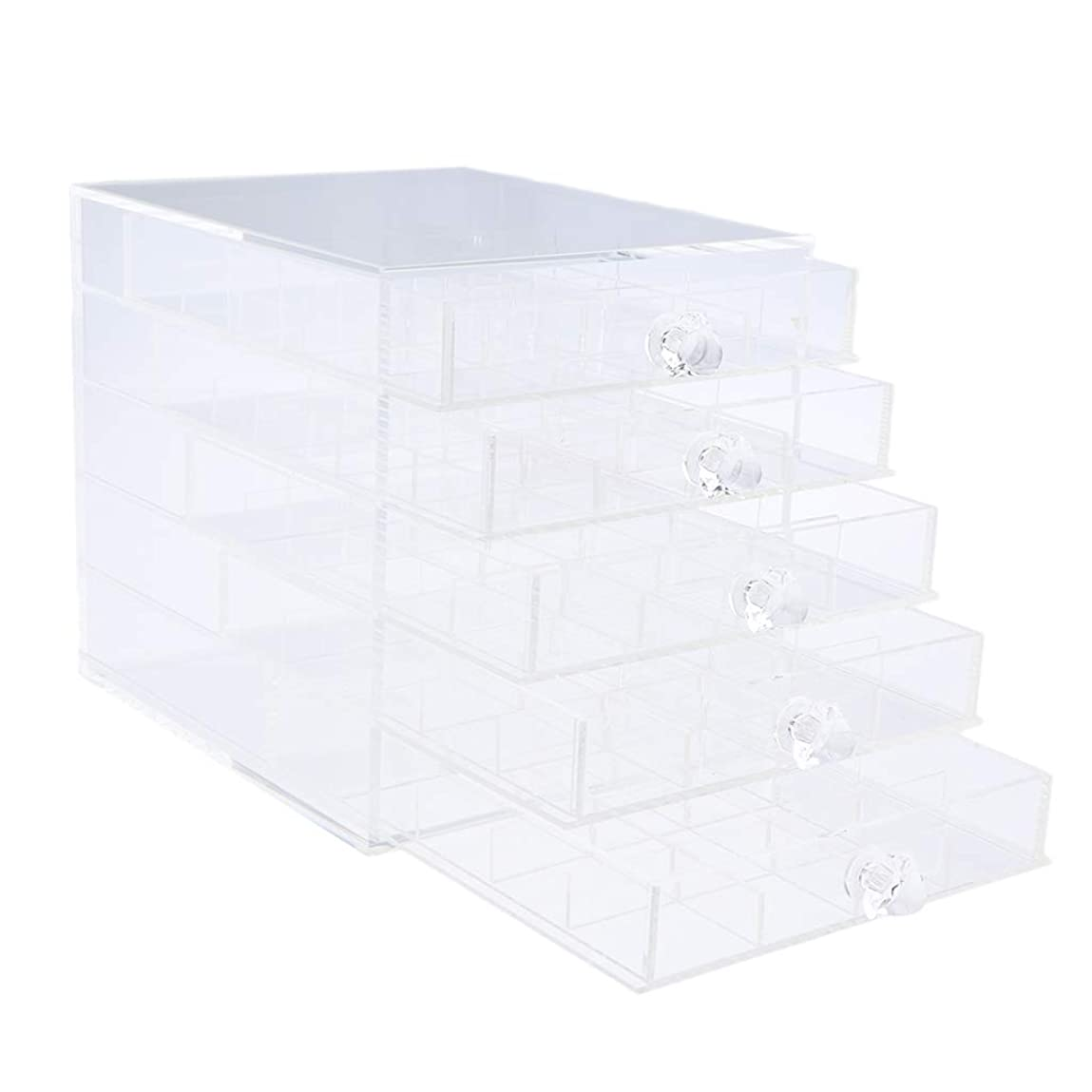 十分社説事業Toygogo ジュエリー収納 ネイルアート 収納ボックス 収納ケース 引き出し スアクリル 透明