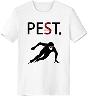 CaoGSH T-shirt à manches courtes avec silhouette pour animal domestique mais pas ravageur Blanc