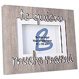 Brildor Marco de Fotos de Madera con Texto Te Quiero Mucho mamá para Fotos de 10 x 15 cm