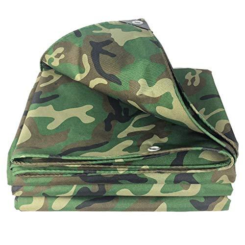 Jonist Green Camo Tarpaulin, Double-Sided Waterproof Heavy Duty Outdoor Hammock Camping Rain Canvas Tarp, Shelter Beach Picnic Blanket Mat (Size : 3m×3m(10ft×10ft))