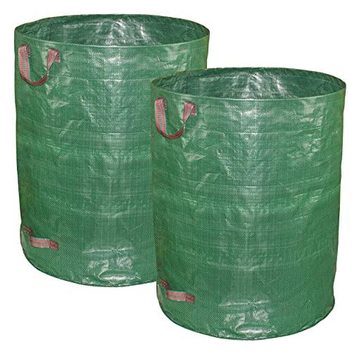 Gardzen 2-Pack 82 Gallons Garden Bag, Free Standing After Opening - Reuseable Heavy Duty Lawn Pool Garden Leaf Waste Bag