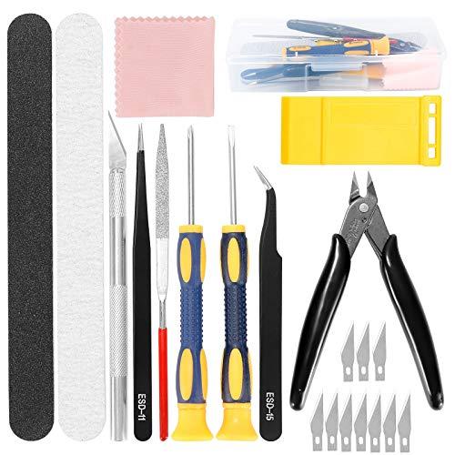 ZITFRI - 22 herramientas de modelismo para modelismo de herramientas y maqueta, material para maqueta, accesorio para Gundam de fijación