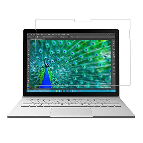 [3 pacotes] Protetor de tela para Microsoft Surface Book 2 (13,5 pol.), protetor de tela de vidro temperado resistente a arranhões para Microsoft Surface Book 2 de 13,5 polegadas