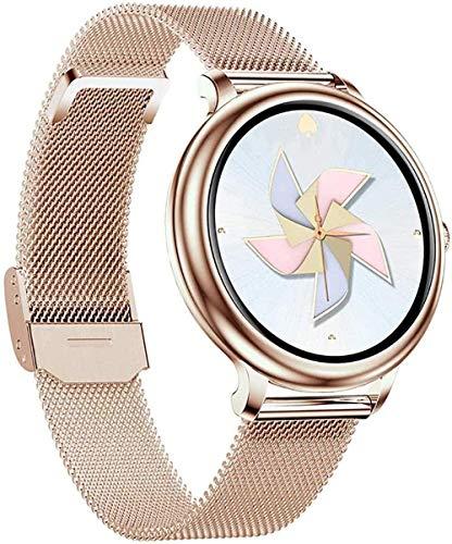 Reloj de pulsera inteligente para mujer en tiempo real, detección de presión arterial, IP68, resistente al agua, estado fisiológico-dorado