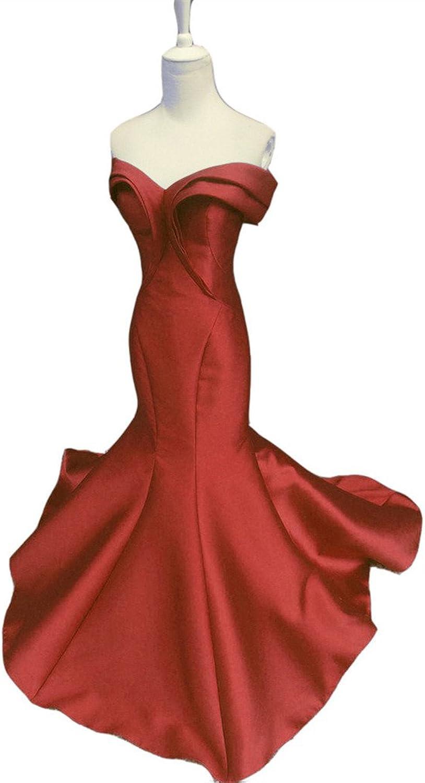 Emmani Women's Mermaid Special Colar Strapless Formal Evening Dresses