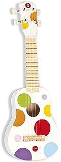 Janod - Youkoulélé en Bois Confetti - Instrument de Musique Enfant - Jouet d'Éveil Musical - Dès 3 ans, J07597