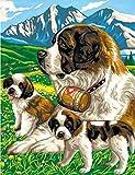 Peinture par numéro chat Animal dessin sur toile peint à la main peinture Art cadeau bricolage coloriage par numéro chien Kits décor à la maison A14 40x50 cm