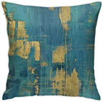 Antvinoler Turquoise and Grey Art Artwork Contemporary Decorative Gray Home Decorative Throw Pillows Covers Cushion...