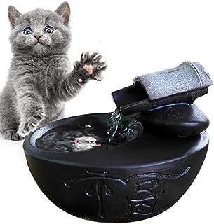 DX Elektrisk keramisk dricksfontän för katter hundar dricksskål automatisk kattvatten fontän dispenser husdjursprodukter m...