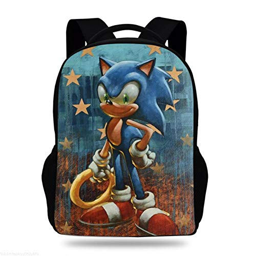 Sonic The Hedgehog 3D Laptop Backpack Women Men College Backpacks Bookbag Fashion Back Pack Travel Backpacks with USB Charging Port,1