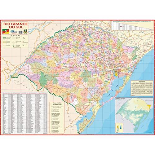 Multimapas 255 Mapa Escolar Estado de Rio Grande do Sul, Multicor