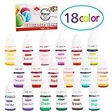 Wtrcsv Seifenfarbe Set Bio 18er x 5ml - Seifenfarben Flüssig Lebensmittelqualität Hautverträglich...