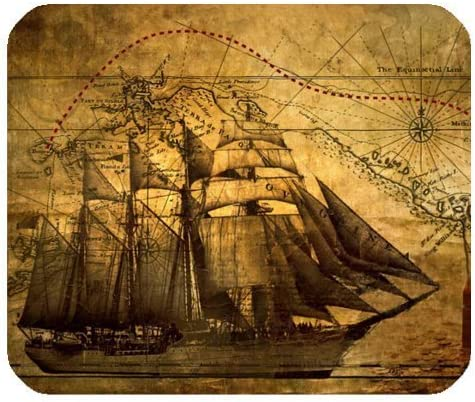 Nautical Vintage Sailing Pirate Ship Theme Tulsa Mall Gam Mouse - Gamer Over item handling ☆ Pad