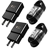 Adaptive Fast Charger Type C Cable Kit Compatible Samsung Galaxy S10 / S10+ / S10e / S8 / S9 / Plus/Edge/Active/Note 8 / Note 9, Wall Plug Power Adapter with USB C Cord (2 Pack)