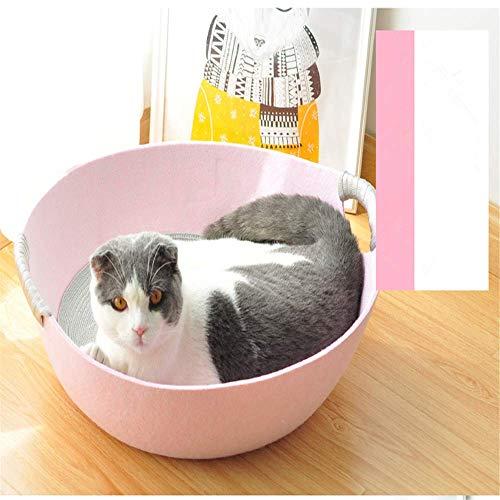LZC Cama CóModa para Mascotas Cama para Mascotas para Gatos Y Perros Cama para Mascotas PequeñA, Cama para Mascotas PequeñA Cama para Mascotas Rosa Interior