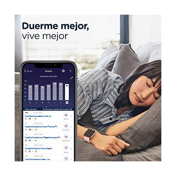 Fitbit Versa 2, Smartwatch con control por voz, puntuación del sueño y música, batería de +4 días 6