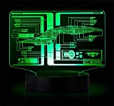 Star Trek Schematic Illuminated Display Light Lamp