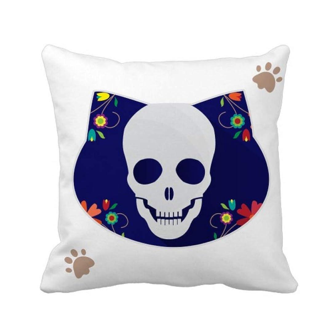 憂鬱修正広告主フラワースカルのイラスト 枕カバーを放り投げる猫広場 50cm x 50cm
