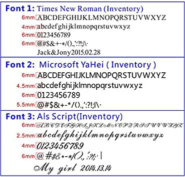 YUNSHINE Times New Roman Police Die T-slot Anglais Lettre En Cuivre Gravure Moule Alphabet Voyelle Nombre Symbole Estampage Marquage En Cuivre Die Logo Custom Made