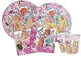 ILS I LOVE SHOPPING Kit Festa Coordinato Tavola Addobbi Party Set Compleanno (Winx Club, Set 8 Persone)