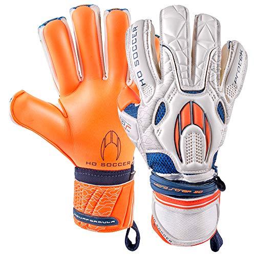 Ho soccer Protek Negative Gen2 Guantes de Portero, Unisex Adulto, Blanco/Naranja/Azul, 10