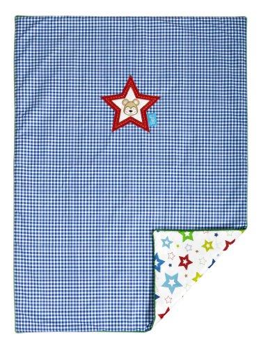 Lief! - Boys - 9600012373 - Couverture de jeu / Plaid - Étoile brodée - 75 x 100 cm