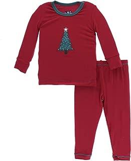 Lotus I Love Grandpa Girls 8 KicKee Pants Little Girls Holiday Short Sleeve Applique Pajama Set