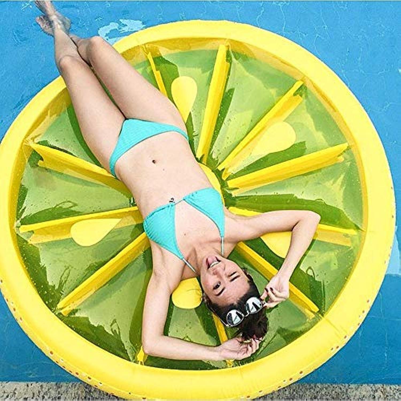 2019 Sommer Neue Pvc Zitrone Schwimmende Reihe Aufblasbare Spielzeuge, Obst Schwimmenden Bett Schwimmring Liegestuhl, Pool Party Liefert -140  20 Cm
