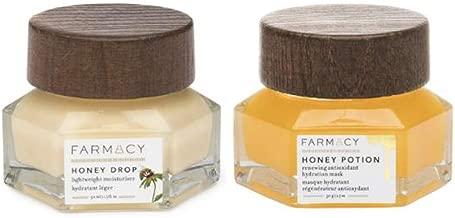 Farmacy Honey Hydration Duo Set! 1.7 Fl. Oz Honey Drop Moisturizer And 1.7 Oz Honey Potion Face Mask! Renewing Antioxidant Hydrating Mask! Lightweight Face Moisturizer With Honey & Hyaluronic Acid!