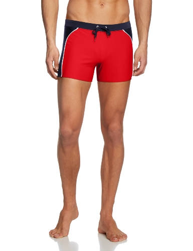 BOGNER FIRE + ICE Herren Badehose Vito, Fire Red, 48, 1418-4135