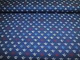 Hilco Baumwoll Jersey Anchor Line Up dunkelblau I`m sew
