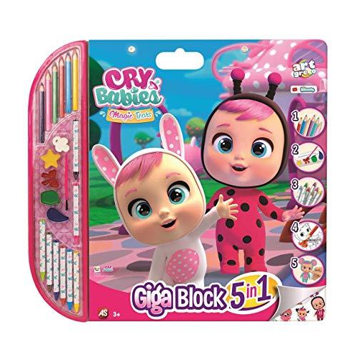 Cefa Toys- Cuaderno Gigante Bebe Llorones Dibujo, Color Rosa (21813)