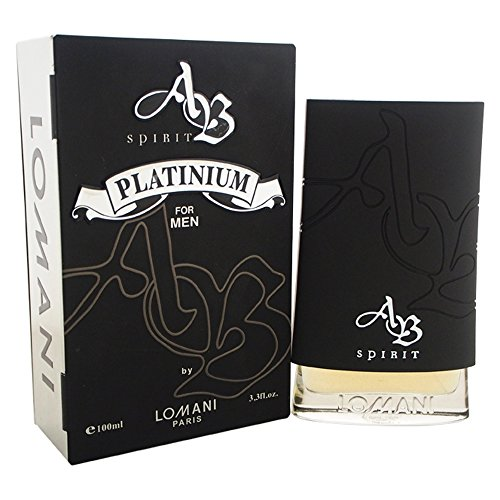Lomani Ab Spirit Platinum Eau De Toilette Spray For Men, 3.3 Ounce