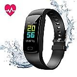 MOTOK Orologio Fitness Tracker, Smartwatch Pressione Sanguigna Cardiofrequenzimetro Bluetooth Activity Tracker IP67 Impermeabile Orologio Sportivo per Uomo Donna iOS Android