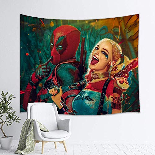 Harley_Quinn Tapestry Wall Hanging Home Decor for Living Room Bedroom Dorm Room (Harley_Quinn1, 50x60in)