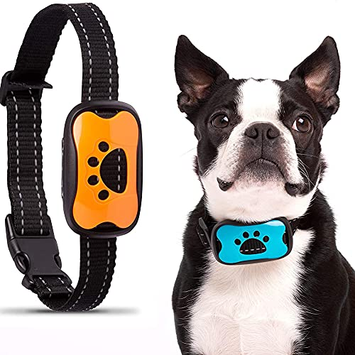 AFSDF Collar De Perro - Cuello De La Corteza Inofensiva Segura con Razas De Perros Pequeñas Y Grandes - Cuello De Ladridos Automáticos De Activación