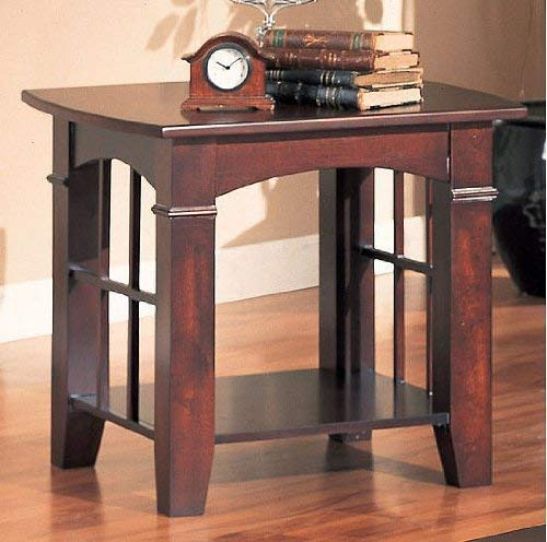 Coaster Home Furnishings Abernathy End Table with Shelf Merlot