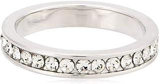 Swarovski Elements Women's 18K White Gold Plated Ring - Size US 6 - SWR-022