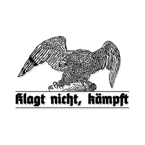 Wandtattoo Adler Klagt Nicht kämpft Aufkleber Preußen Deutschland Militär 70x45cm #A4630