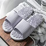 Non Slip Women Massage Slippers Summer Fashion Indoor Outdoor Flip Flops Woman Shoes Beach Bathroom Slipper Men Slide (9, Gray)-Purple-7