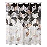 Duschvorhang Duschvorhänge Anti-Schimmel, Wasserdicht, Textil-Vorhang Waschbar Badvorhang Polyester Stoff mit 12 Duschvorhangringen, 180x200 cm