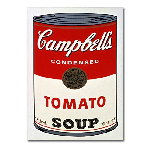 LaMAGLIERIA Andy Warhol - Campbell's Soup - Hochqualitatives Poster Posterdruck glänzend laminiert - Format, 50cmx70cm