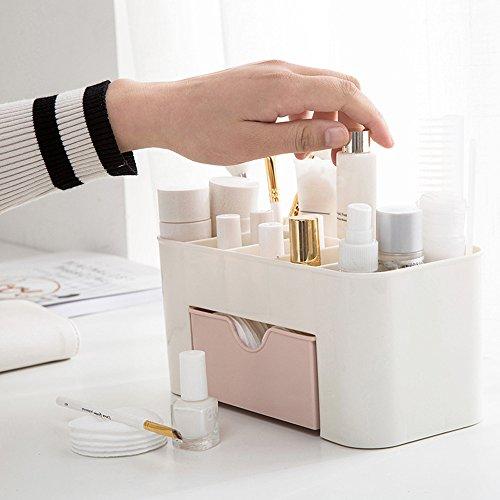Euone_Home Organizador de maquillaje, ahorro de espacio de almacenamiento, caja de almacenamiento de maquillaje tipo cajón para brochas, paletas de labios