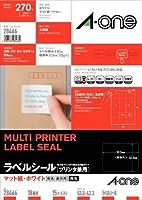 エーワン マルチプリンタラベル A4表示用 18面 28466 00046108【まとめ買い3パックセット】