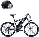 Bicicletas Eléctricas, 26 '' bicicleta plegable eléctrica de montaña con extraíble 48V de iones de litio de 500 vatios de motor de bicicleta eléctrica E-Bici 27 de velocidad de engranajes y modos de t