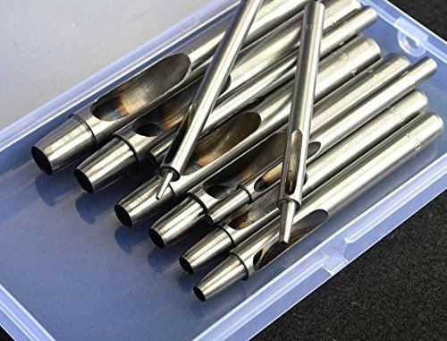 1–10 mm Locheisen-Werkzeug-Set, Lochstanzer für Gürtel Leder Uhrenarmband Bastelpapier Scrapbooking