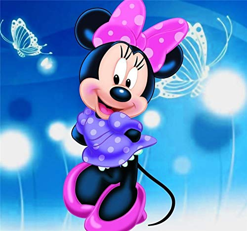 ZHUTU 5D DIY Diamant Schilderij Mozaïek Cartoon Mickey Mouse Borduurwerk Cross-Stitch Hars Moderne Decoratie Handgemaakte Producten Volledige Ronde Diamant (11.8x15.8inch)