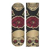 JEOLVP 33.1x9.1inch Sport Outdoor Custom Skateboard Grip Tape Head Skull Mexico America Style Print Skateboard étanche Griptape for Dancing Board Double Rocker Board Deck 1 Sheet