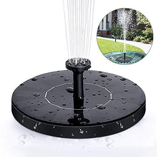 laxikoo Solar Springbrunnen, Solar Teichpumpe Outdoor Wasserpumpe Solar Pumpe mit 1.0W Monokristalline Solar schwimmender Fontäne Pumpe für Gartenteich Oder Springbrunnen Vogel-Bad Fisch-Behälter