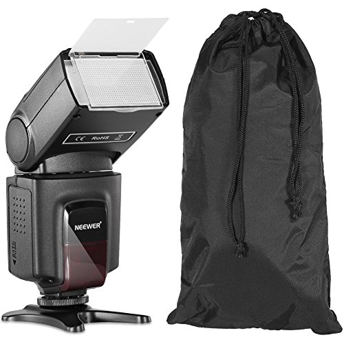 Neewer TT560 Speedlite Flash Kit for Canon Nikon Sony Pentax DSLR Camera with Standard Hot Shoe,Includes: (1)TT560 Flash,(1)Flash Diffuser,(1)Remote Control,(4)Batteries